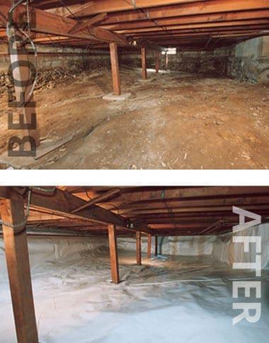 Crawl Space Drainage Vapor Barrier Weinstein Construction