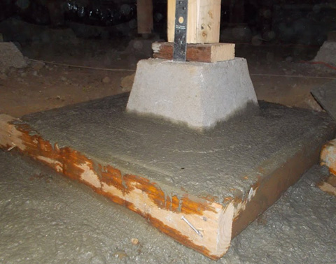 Foundation repair weinstein construction for Raised pier foundation